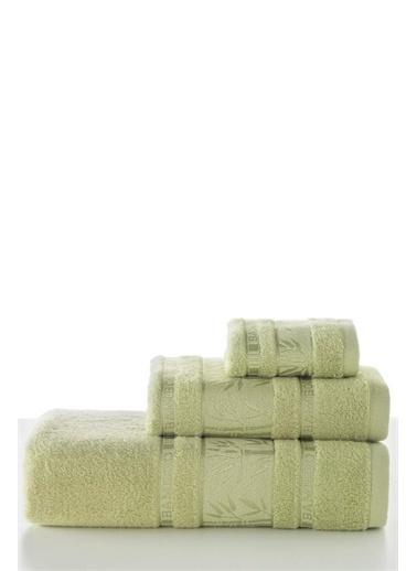Varol Varol Flora Bambu Banyo Havlusu 90X150 - Yeşil Renkli